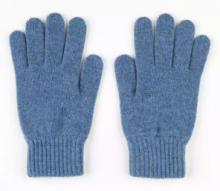 кашемировые перчатки женские (100% драгоценный кашемир) , цвет Голубой джинсовый  Jean