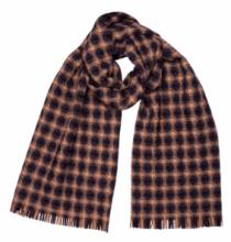 шотландский теплый плотный большой шарф с субрисунком,  100% шерсть ягненка Берти Бирс  BERTIE BIRSE LAMBSWOOL . плотность 5